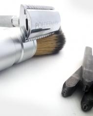 graveren scheermes en scheerkwast Gaaf Geschoren